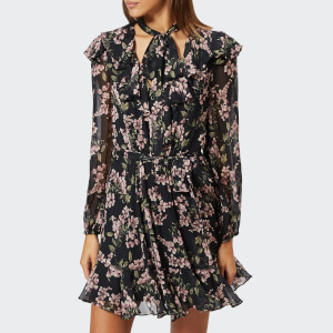 Zimmermann Women's Fleeting Flounce Mini Dress - Black Wisteria Floral