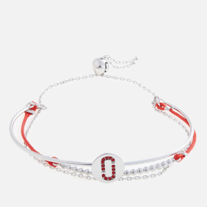 Marc Jacobs Women's Double J Pave Friendship Bracelet - Red/Silver