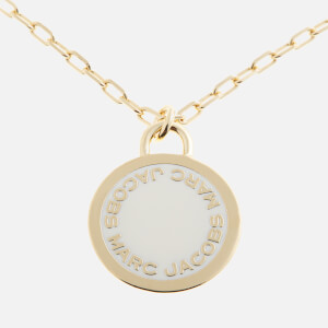 Marc Jacobs Women's Logo Disc Pendant - Cream