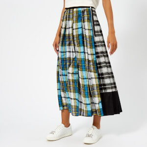 Marc Jacobs Women's Plaid Long Skirt - Blue/Multi