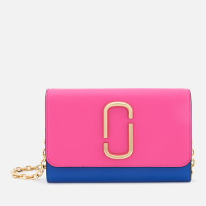 Marc Jacobs Women's Snapshot Wallet on Chain - Vivid Pink