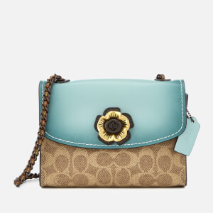 Coach Women's Colorblock Parker 18 Shoulder Bag - Light Turquoise
