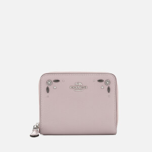 Coach Women's Prairie Rivets Small Zip Around Wallet - Ice Purple