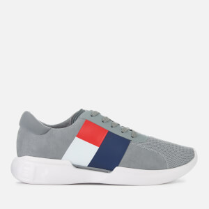 Tommy Hilfiger Men's Lightweight Runner Style Trainers - Light Grey