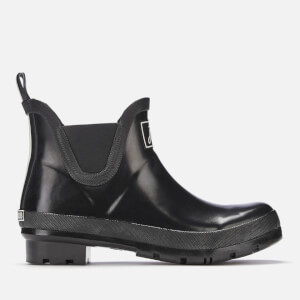 Joules Women's Wellibob Gloss Chelsea Boot Wellies - Black
