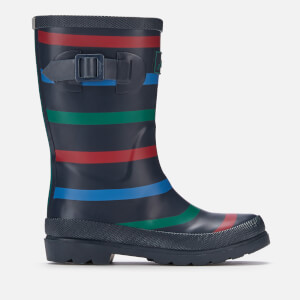 Joules Kids' Premium Bow Back Wellies - Multi Stripe