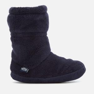Joules Kids' Padabout Fleece Lined Slipper Socks - French Navy
