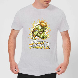 Street Fighter Blanka 16-bit Mens T-Shirt - Grau