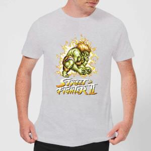 Camiseta Street Fighter II Blanka 16 Bit - Hombre - Gris