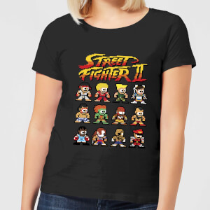 Street Fighter 2 Pixel Characters Women's T-Shirt - Black