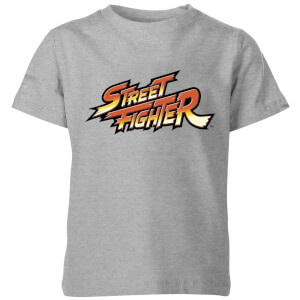 Street Fighter Logo Kinder T-Shirt - Grau