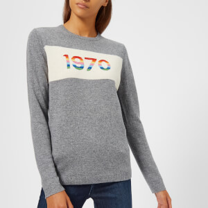 Bella Freud Women's 1970 Rainbow Cashmere Jumper - Grey Marl