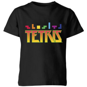 T-Shirt Enfant Multi Blocs Tetris - Noir