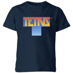 Tetris Block Kids' T-Shirt - Navy