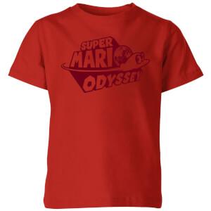 Nintendo Super Mario Odyssey Logo Kid's T-Shirt - Red