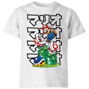 Nintendo Super Mario Piranha Plant Japanese Kinder T-shirt - Wit