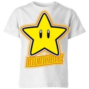 T-Shirt Homme Invincible - Super Mario Nintendo - Blanc