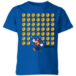 Nintendo Super Mario Coin Drop Kinder T-shirt - Blauw