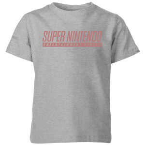 Nintendo SNES Kid's T-Shirt - Grey