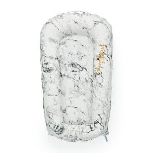 Sleepyhead Deluxe + Pod for 0-8 Months - Carrara Marble