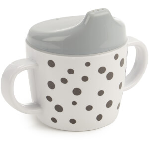 Done By Deer Spout Cup Happy Dots - Grey