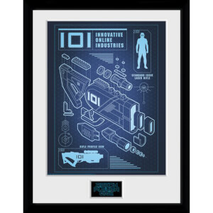 Ready Player One 101 Blueprint 12 x 16 Inches Framed Photograph