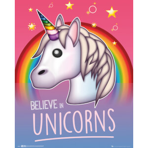 Emoji I Believe in Unicorns Mini Poster 40 x 50cm