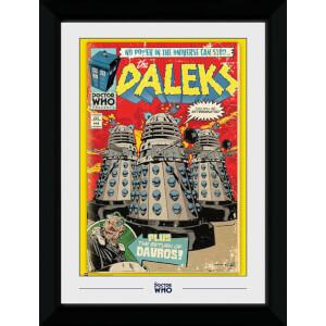 Doctor Who Dalek Comic 50 x 70cm Framed Photograph