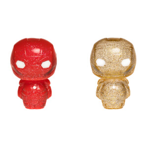 Marvel Iron Man Red & Gold Hikari XS Vinyl Figure 2 Pack