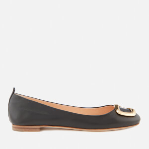 Rupert Sanderson Women's New Vadette Leather Ballet Flats - Black