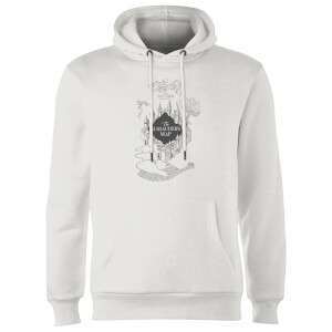 Sweat à Capuche Homme Carte du Marauder - Harry Potter - Blanc