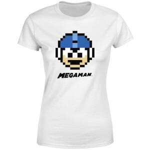 Mega Man Pixel Face Women's T-Shirt - White