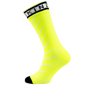 Sealskinz Super Thin Road Pro Mid Socks with Hydrostop - Yellow