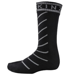 Sealskinz Super Thin Road Pro Mid Socks with Hydrostop - Black/Grey
