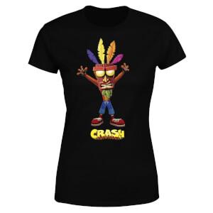 T-Shirt Femme Crash Aku Aku Crash Bandicoot - Noir
