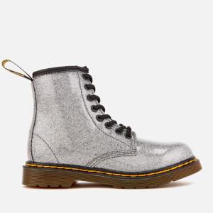 Dr. Martens Kids' 1460 J Glitter Lace Up Boots - Gunmetal
