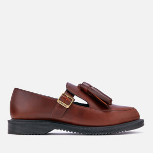 Dr. Martens Women's Gracia Brando Leather Tassel Flats - Oxblood