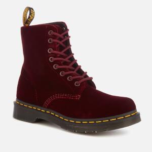 Dr. Martens Women's 1460 Velvet Pascal 8-Eye Boots - Cherry Red: Image 2