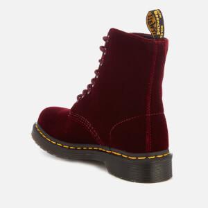 Dr. Martens Women's 1460 Velvet Pascal 8-Eye Boots - Cherry Red: Image 3