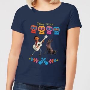 T-Shirt Femme Miguel et Logo Coco - Bleu Marine
