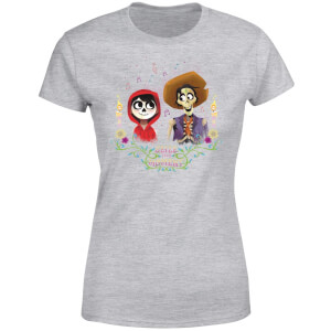 Coco Miguel And Hector Women's T-Shirt - Grey