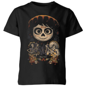 Coco Miguel Face Poster Kinder T-Shirt - Schwarz