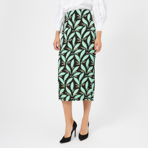 Diane von Furstenberg Women's Tailored Midi Pencil Skirt - Mason Black