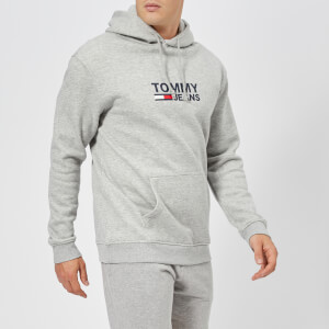 Tommy Jeans Men's Corporate Logo Hoody - Light Grey Heather