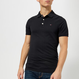 Tommy Jeans Men's Original Fine Pique Polo Shirt - Tommy Black