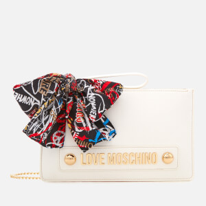 Love Moschino Women's Small Zip Pouch Bag - White
