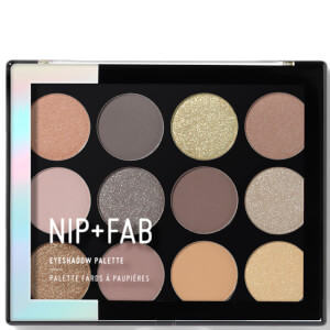 NIP+FAB Make Up Eyeshadow Palette paleta cieni do powiek – Cool Neutrals 12 g