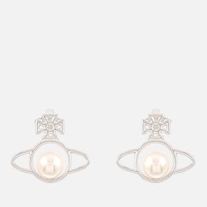 Vivienne Westwood Women's Otavia Orb Small Earrings - Rhodium