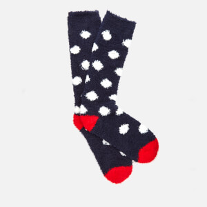 Joules Women's Fabulously Fluffy Socks - Navy Spot