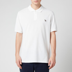 PS Paul Smith Men's Zebra Logo Regular Fit Polo Shirt - White